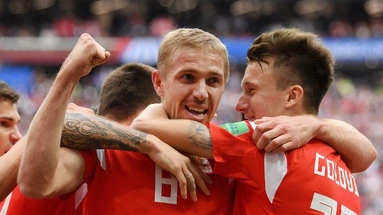 Russia beat Saudi Arabia 5-0 on Thursday