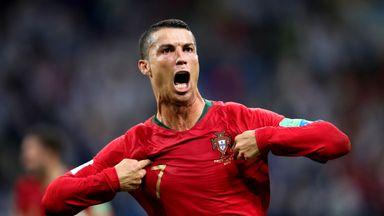 Cristiano Ronaldo scored a hat-trick against Spain
