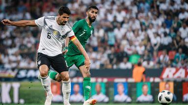 Germany captain Sami Khedira (left) in action against Saudi Arabia