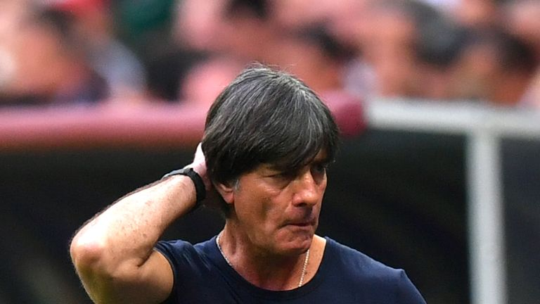 Joachim Loew during the group F match between Germany and Mexico at Luzhniki Stadium