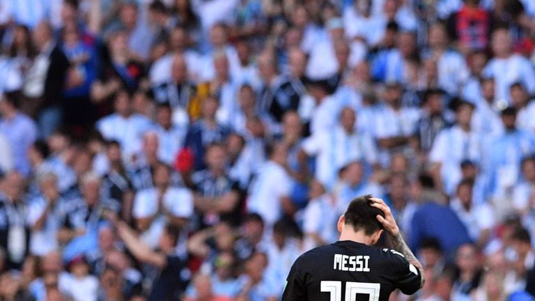 Lionel Messi missed a penalty as Argentina were held by Iceland in the World Cup