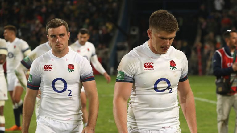 Owen Farrell and George Ford after the final whistle