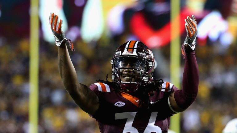 The Washington Redskins added Adonis Alexander from Virginia Tech