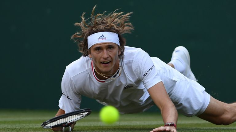 Zverev completes delayed match in five sets for Wimbledon progress