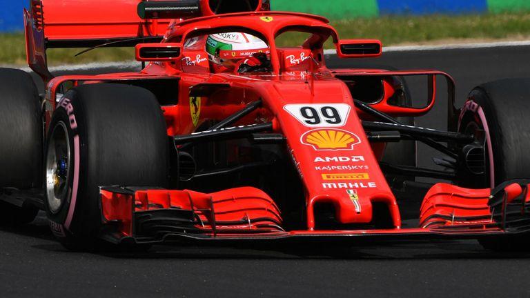 Giovinazzi tops first morning of Hungary test for Ferrari
