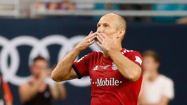 Bayern Munich's Arjen Robben scored against City