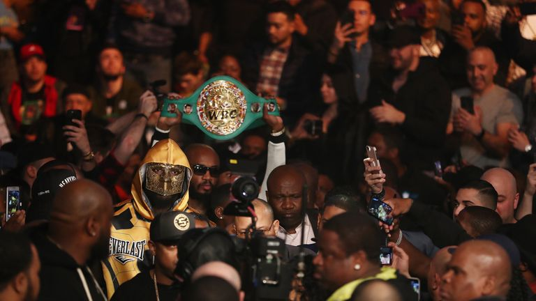 Wilder's WBC belt is the only major title not owned by Joshua