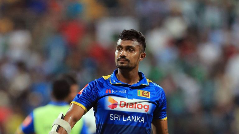 Dhanushka Gunathilaka made his Test debut for Sri Lanka against India in 2017
