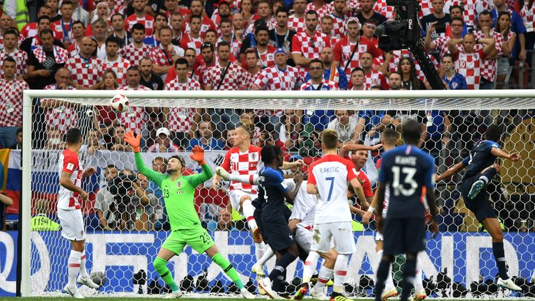 Mario Mandzukic's own goal gave France the lead