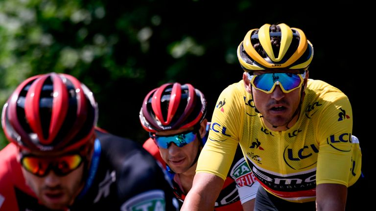 Greg Van Avermaet retained his yellow jersey
