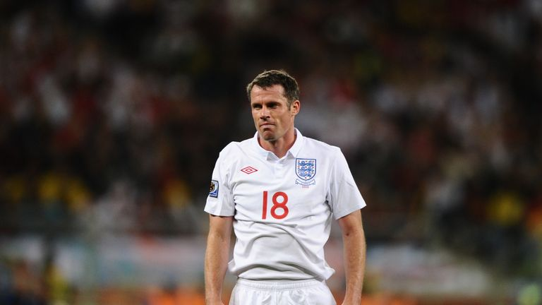Jamie Carragher made 38 appearances for England and played at two World Cups