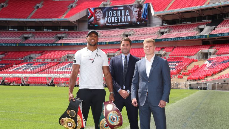 Joshua fights Alexandr Povetkin at Wembley Stadium on September 22