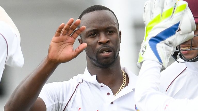 Windies paceman took 5-8 on day one against Bangladesh
