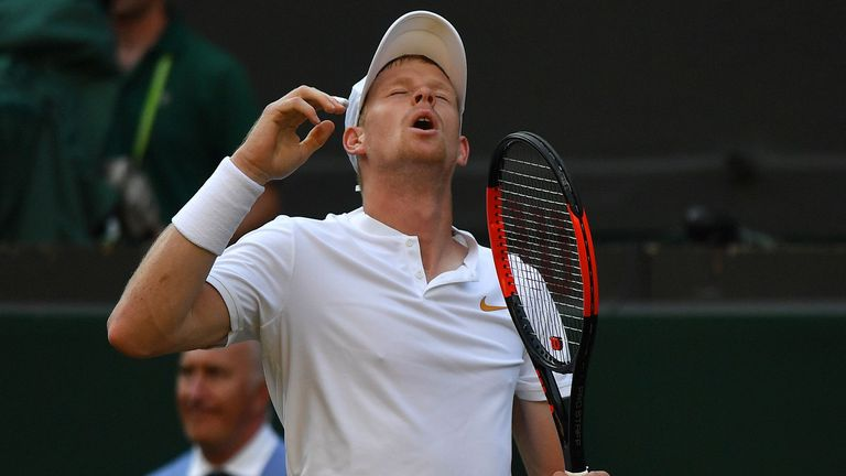 Kyle Edmund, Britain's last hope in Wimbledon singles, was defeated by Novak Djokovic