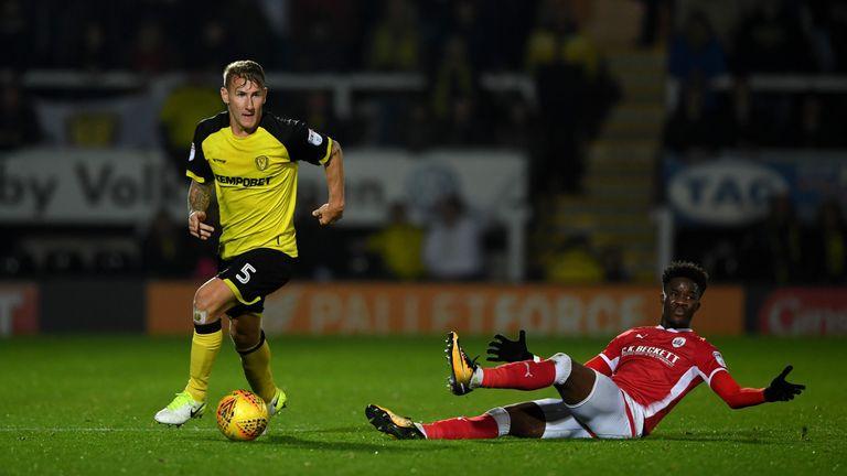Kyle McFadzean in action for Burton Albion
