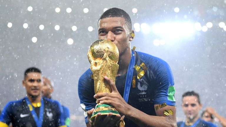 Kylian Mbappe was named the best young player at the World Cup