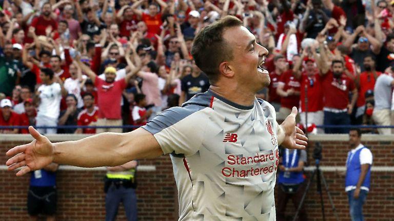 Xherdan Shaqiri scored as Liverpool beat Manchester United 4-1 in Michigan