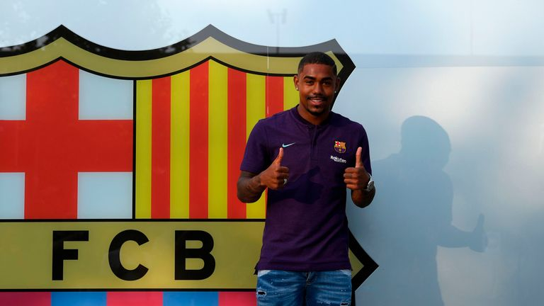 FC Barcelona have confirmed the arrival of Brazilian winger Malcom