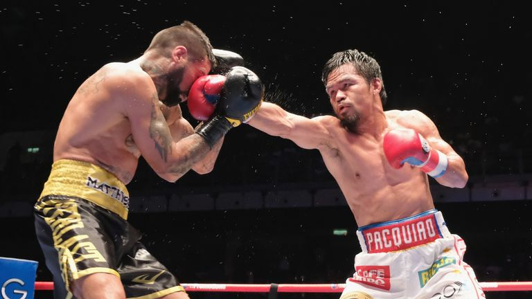 Pacquiao dropped Matthysse three times on his way to taking his WBA title