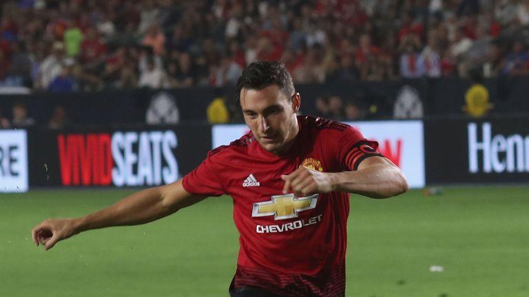 Matteo Darmian captained Manchester United in their pre-season friendly against AC Milan
