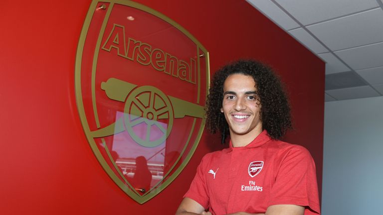 Arsenal have unveiled new signing Matteo Guendouzi