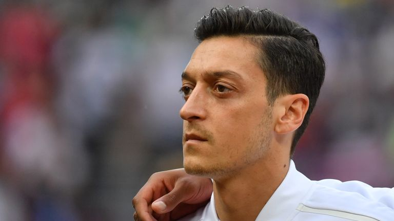 Turkish FA president Demiroren defends Arsenal star Ozil
