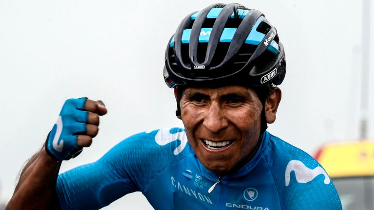 Nairo Quintana won stage 17 with a fine solo attack