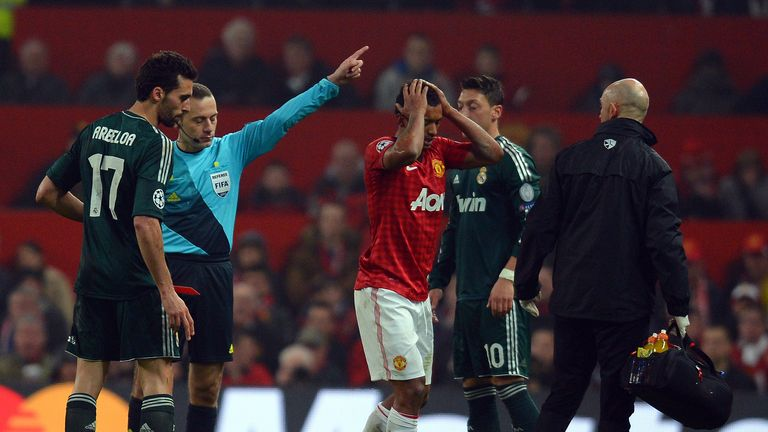 Cuneyt Cakir angered Sir Alex Ferguson after sending off Nani in a Champions League match in 2013