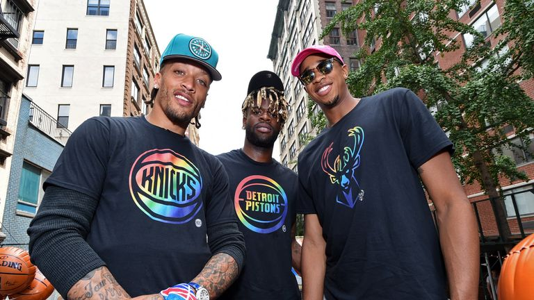 NBA stars Michael Beasley, Reggie Bullock and John Henson were guests on the organisation's parade float at New York Pride last month