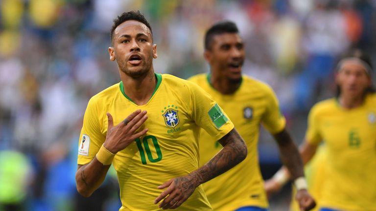 Neymar has scored twice for Brazil so far in Russia