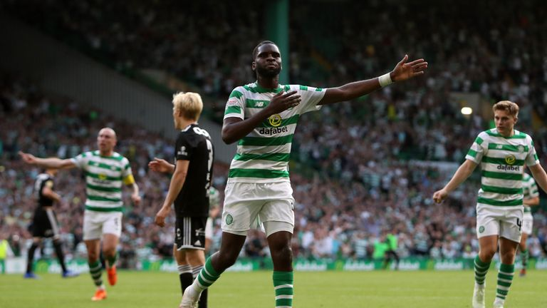 Celtic striker Odsonne Edouard signed permanently from PSG over the summer for a club record transfer fee