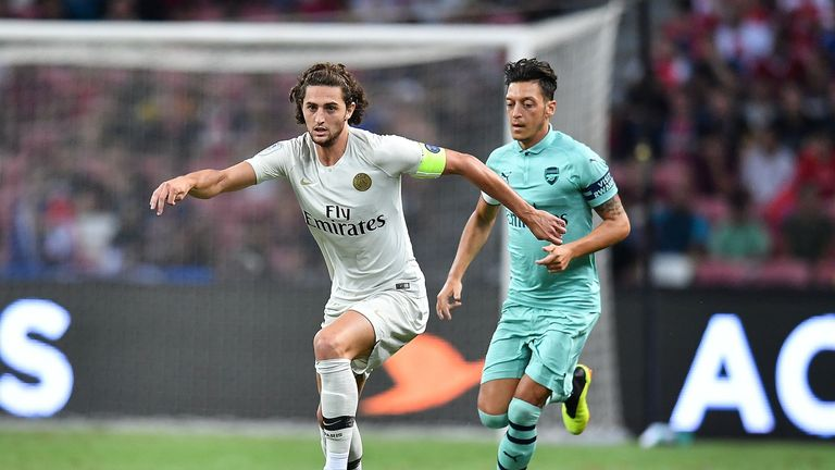 Adrien Rabiot captained PSG in their pre-season defeat to Arsenal on Saturday