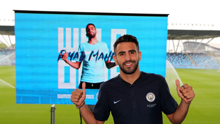 Riyad Mahrez has become Manchester City's record signing