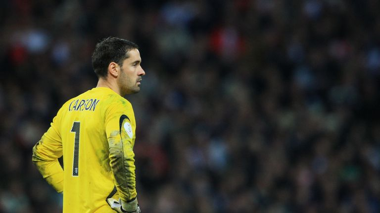 Scott Carson looks stunned after his early error