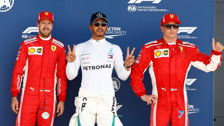Hamilton hits out at Ferrari's 'interesting tactics' after Kimi clash