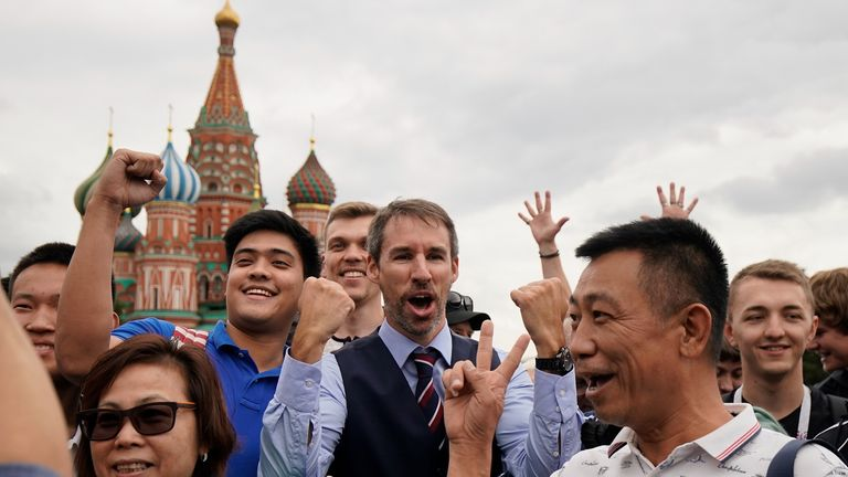 Gareth Southgate, alias lookalike Neil Rowe, caused a stir in Russia when he donned a waistcoat