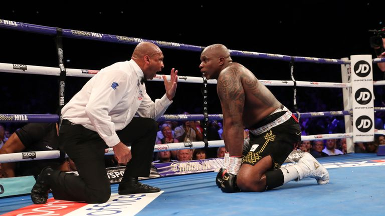 Whyte was floored in the final round