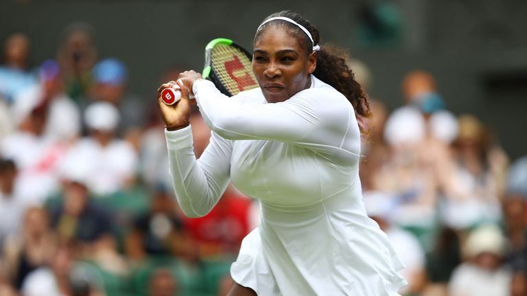 Serena drops first set but zooms into semis