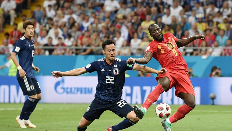 Maya Yoshida kept Romelu Lukaku at bay but his side fell to defeat