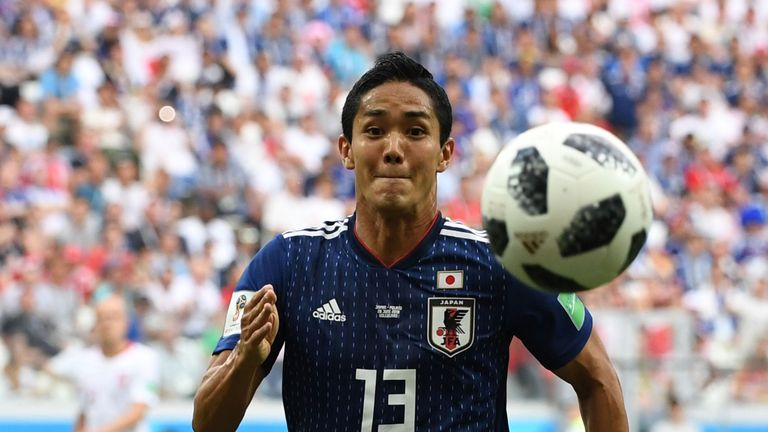 Yoshinori Muto played once for Japan at this summer's World Cup