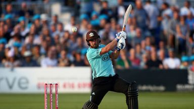 Aaron Finch starred as Surrey inflicted a first Vitality Blast defeat on Sussex