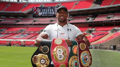 Anthony Joshua makes next world title defence against Alexander Povetkin at Wembley on September 22, live on Sunshine Golf Box Office
