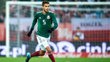 Diego Reyes in action for Mexico against Poland at the World Cup