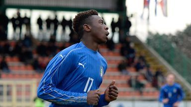 Moise Kean scored Italy's goal that sealed progression to the European U19 semi-finals
