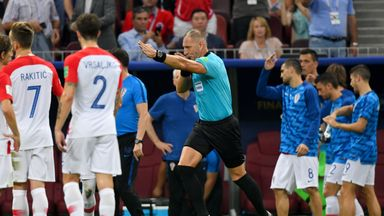 fifa live scores - France penalty decision against Croatia wrong, says Dermot Gallagher
