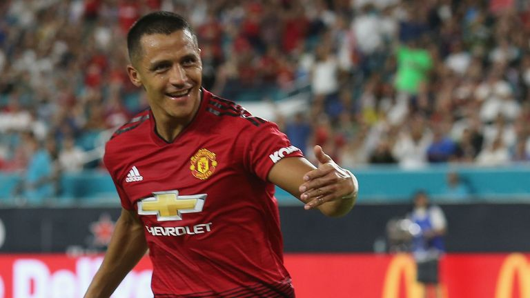 Alexis Sanchez will hope to get Manchester United off to a winning start