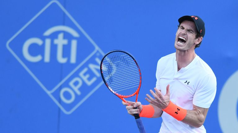 Andy Murray sobs after 3-set win in Washington
