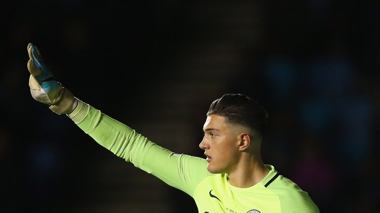 Manchester City recall Aro Muric from loan after Claudio Bravo injury