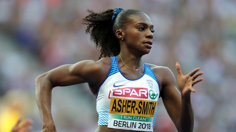 Dina Asher-Smith qualified for the 200m final