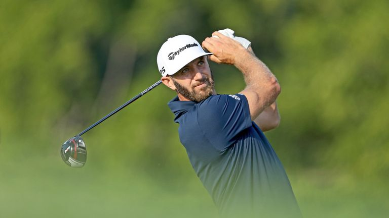 Dustin Johnson raced up the leaderboard with five birdies in six holes